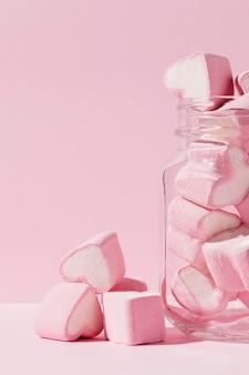 Délicieux bonbons en forme de coeur