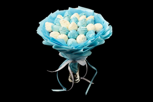 Délicieux bouquet de fraises au chocolat
