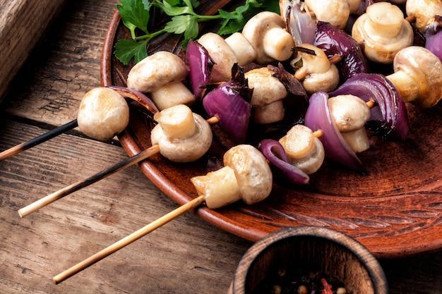 Délicieux champignons frits