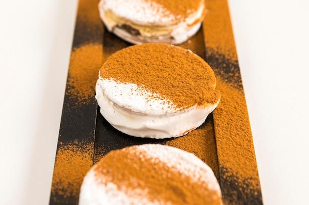 Délicieux concept de biscuits alfajores