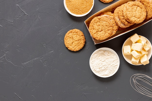 Délicieux cookies avec espace de copie