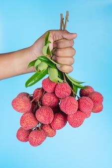 Délicieux fruits de litchi