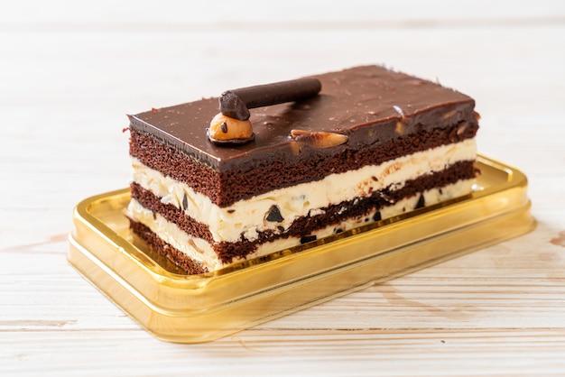 Délicieux gâteau au chocolat aux amandes