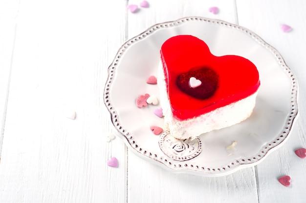 Délicieux gâteau pour la saint valentin