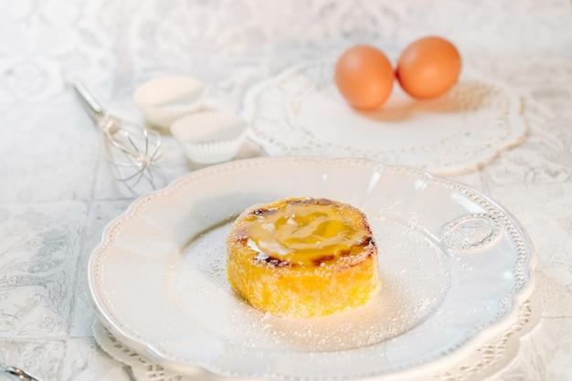 Délicieux gâteau roulé du portugal