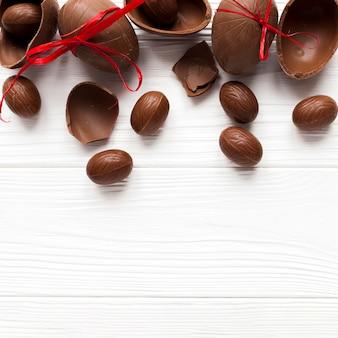 Délicieux oeufs en chocolat