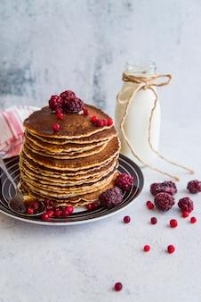 Délicieux pancakes aux baies