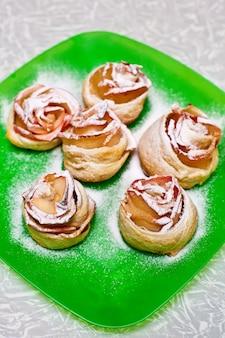 Délicieux petits pains en forme de rose