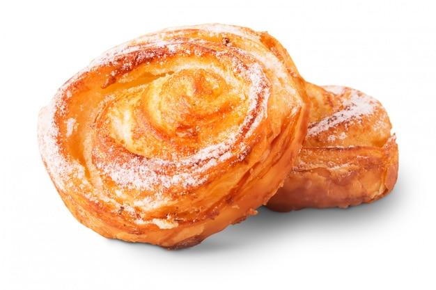 Délicieux petits pains sucrés fraîchement cuits