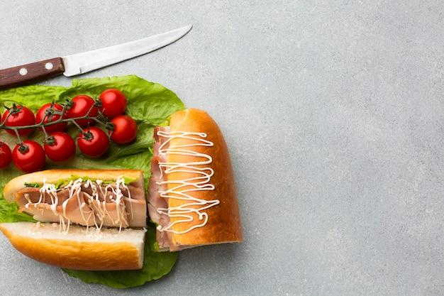 Délicieux sandwich aux tomates