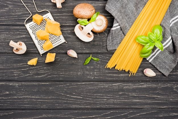 Délicieux spaghetti aux champignons