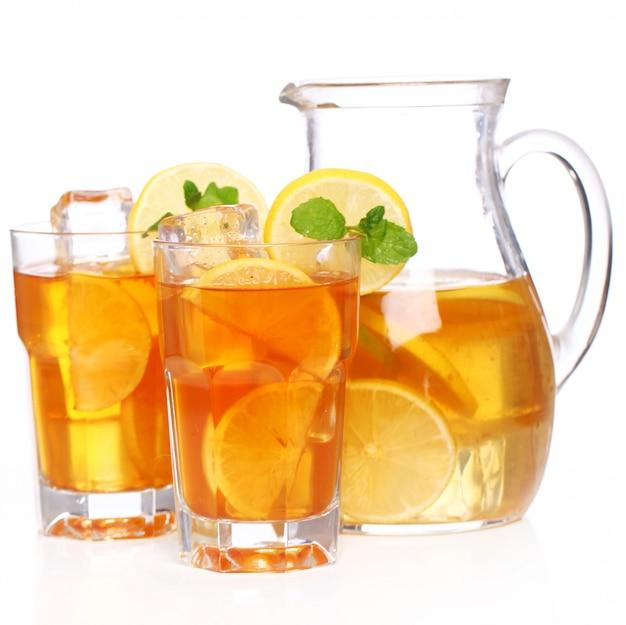 Délicieux thé glacé