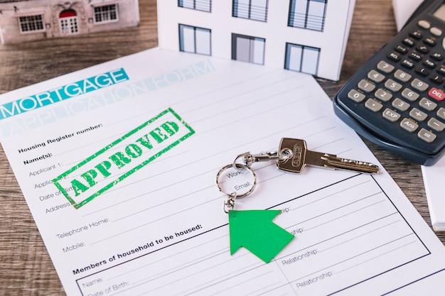 Demande de crédit approuvée pour l'immobilier