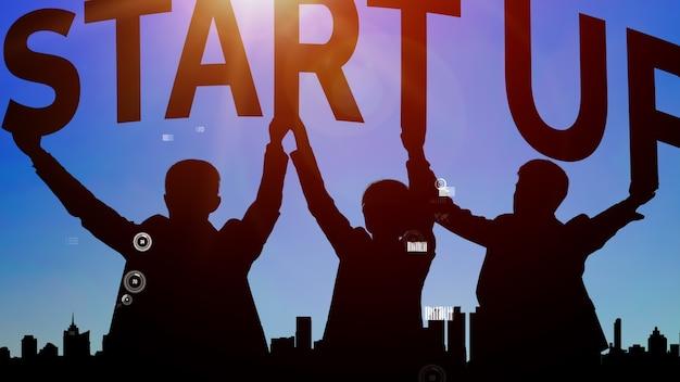 Démarrer une entreprise de personnes créatives conceptuel
