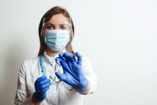 Démarrez la vaccination covid-19. concept de traitement de prévention, de protection et de médecine du virus corona.