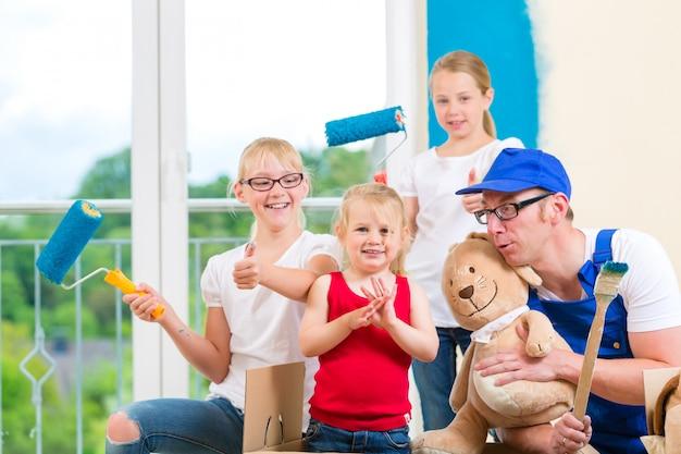 Déménagement familial et rénovation d'une maison