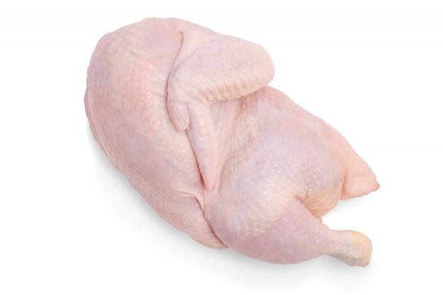 Demi poulet cru