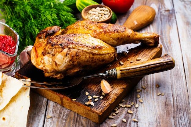 Demi-poulet rôti