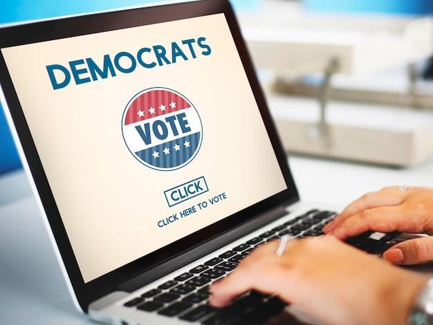 Démocratie démocrates droits de l'homme liberté liberté concept