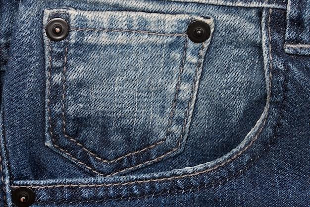 Denim closeup: texture des poches jeans.