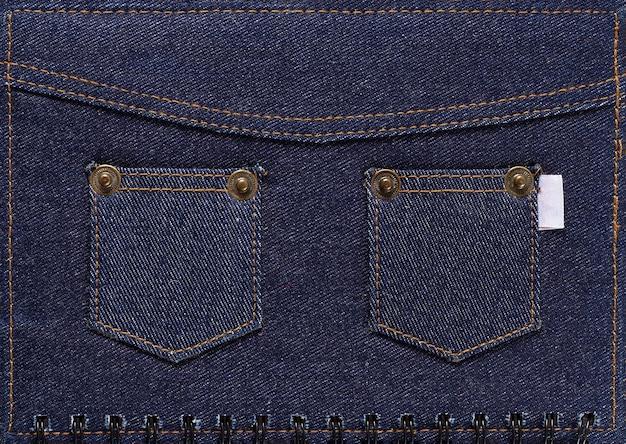 Denim avec poches, fond, couleur bleu foncé