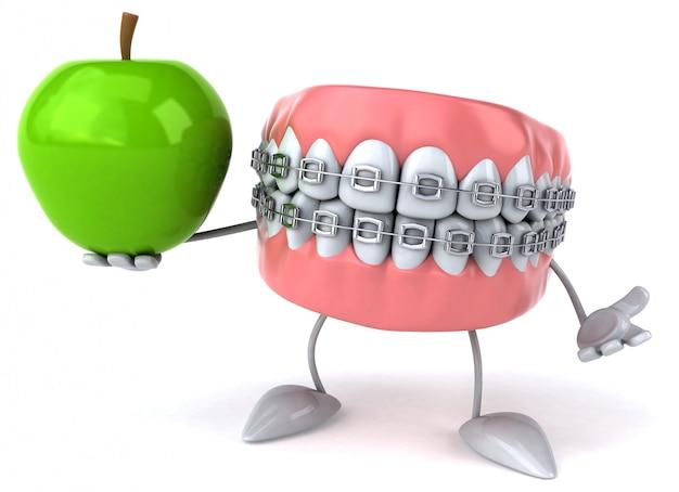 Dents amusantes - personnage 3d