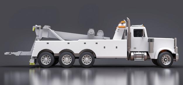 Dépanneuse blanche pour le transport d'autres gros camions ou de diverses machines lourdes