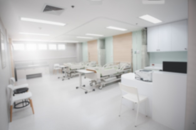 Département d'arrière-plan flou ou unité de soins intensifs de soins intensifs à l'hôpital