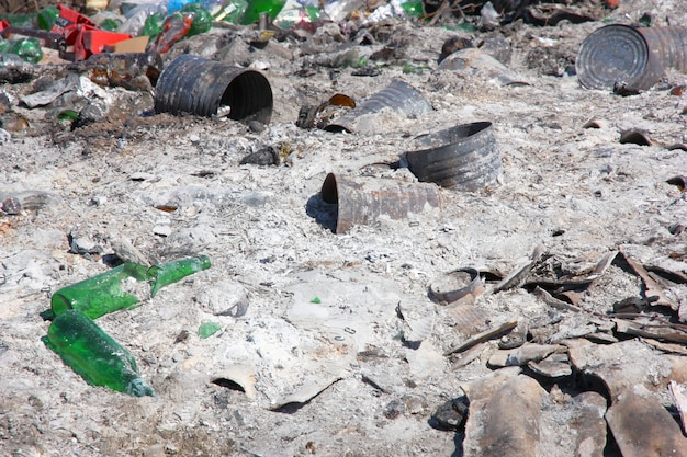 Dépotoir: la démonstration des problèmes environnementaux