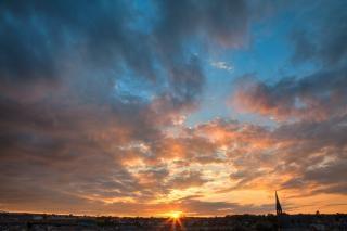 Derry coucher de soleil hdr noir