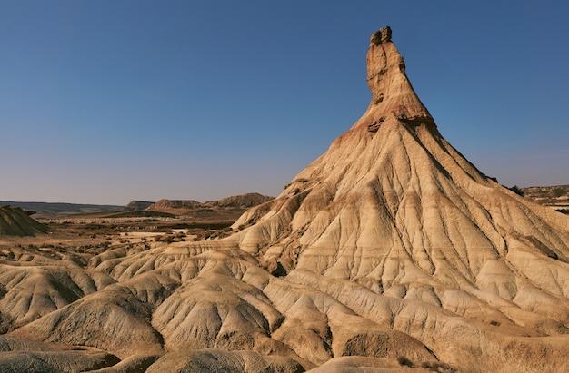 Désert de bardena reales, château de sable créé par l'érosion de l'eau et du vent