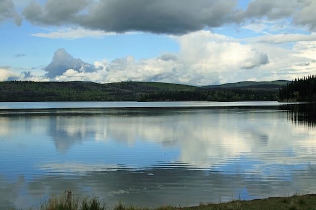 Désert, paysage, lac naturel d'eau alaska