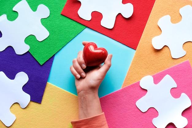 Design créatif pour le 2 avril, journée mondiale de sensibilisation à l'autisme