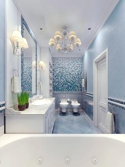 Design élégant de salle de bain provençale.