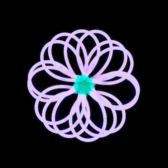 Design floral sur fond noir foncé