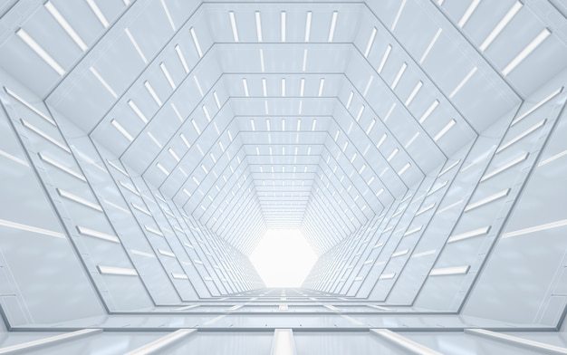 Design d'intérieur abstrait couloir vide éclairé