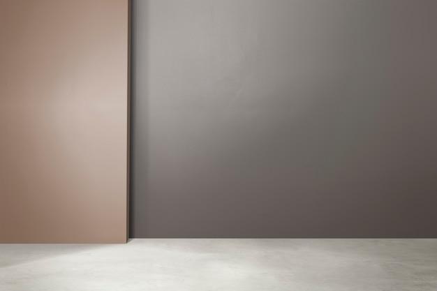 Design d'intérieur authentique de chambre vide chic