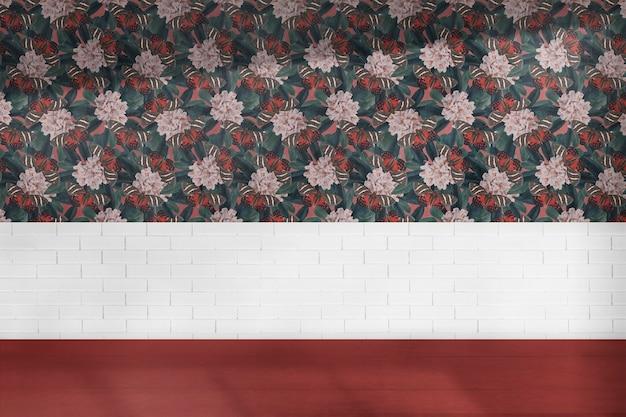 Design d'intérieur authentique de pièce vide florale