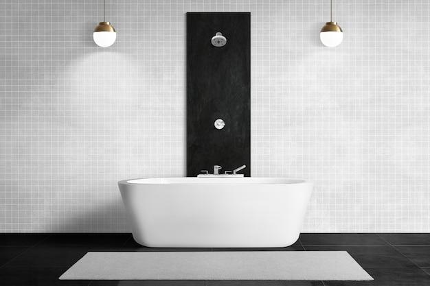 Design d'intérieur authentique de salle de bain noire