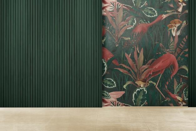 Design d'intérieur authentique de salle vide verte