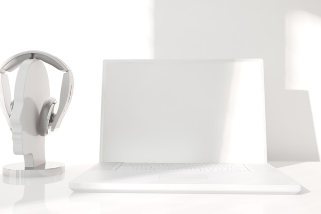 Design d'intérieur de bureau moderne. illustration 3d