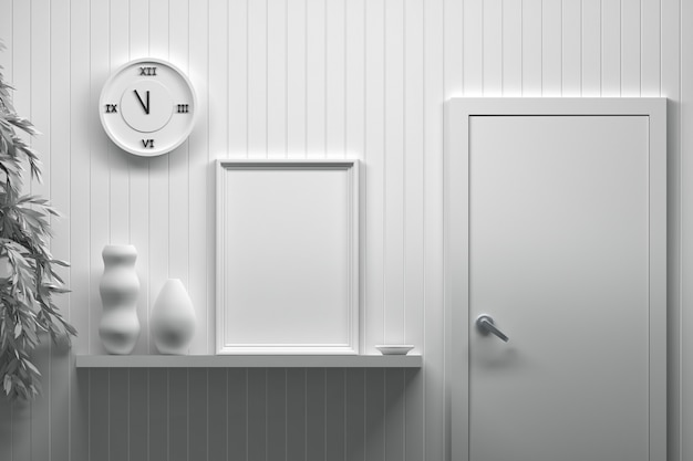 Design d'intérieur avec cadre d'image vide