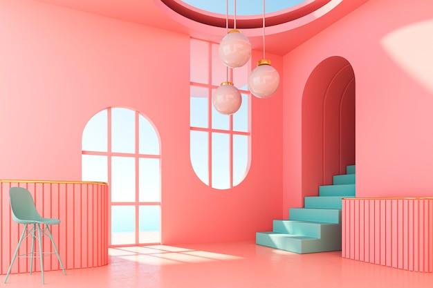 Design d'intérieur de chambre 3d avec