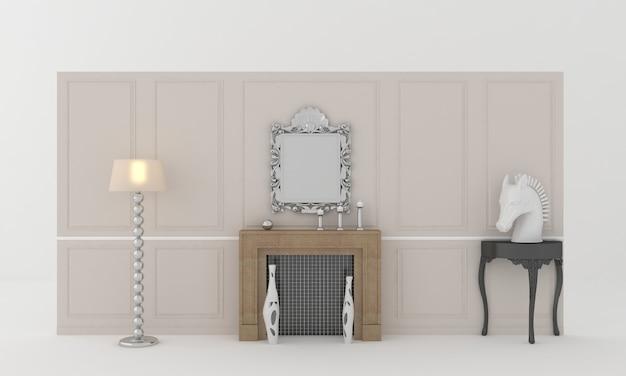 Design d'intérieur de cheminée