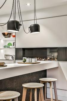 Un design d'intérieur de cuisine de luxe et magnifique