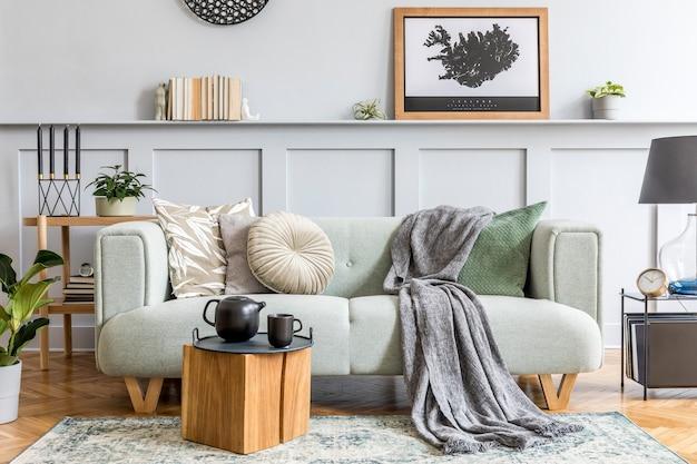 Design intérieur élégant du salon avec un style moderne