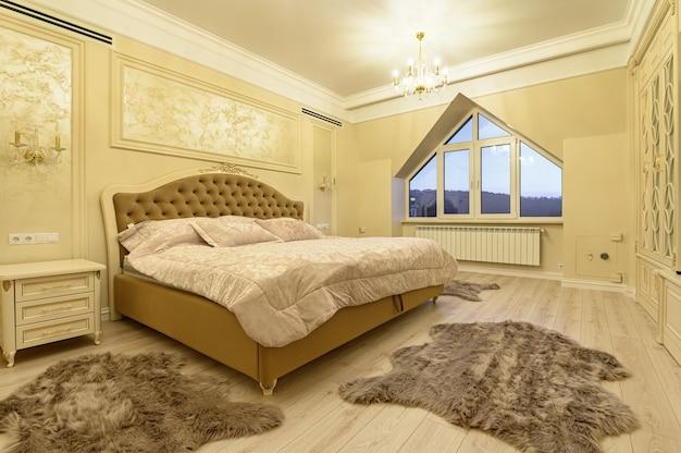 Design d'intérieur, grande chambre moderne de luxe