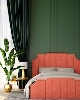 Design d'intérieur pour chambre de style vintage