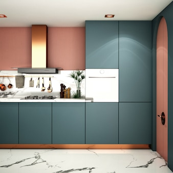 Design d'intérieur pour cuisine dans un style moderne