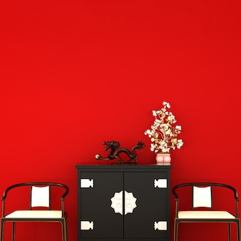 Design d'intérieur pour salon dans un style chinois